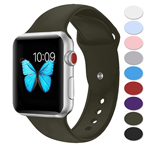 Sport Band Compatible with Apple Watch 42mm 38mm,Misker Soft Silicone Strap Replacement Wristbands Compatible with iwatch Sport Series 3/2/1 Sports and Edition