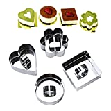 Ya Jin 4Pcs Stainless Steel Mousse Cake Ring Set, Cheese Shape Mold Cupcake Mold with Pusher and Lifter