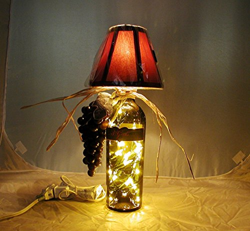 Wine Bottle Table Lamp Crafted From a Repurposed 3 Girls Cabernet Wine Bottle. Shipping is included