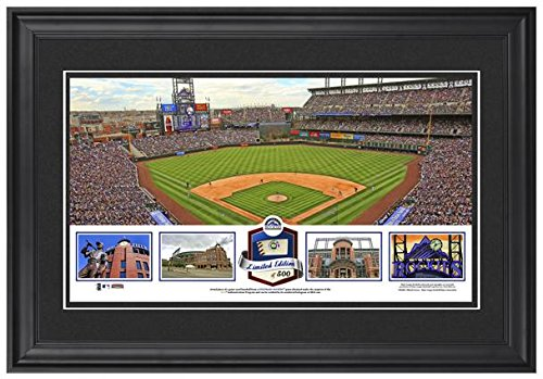 Coors Field Colorado Rockies Framed Stadium Panoramic with Game-Used Ball-Limited Edition of 500 - Fanatics Authentic Certified