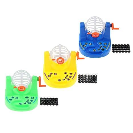 Amazon.com: Fityle - Juego de mini jaula de bingo y bolas ...