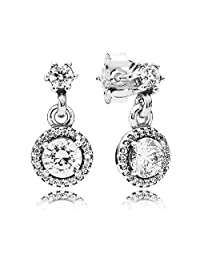 290594CZ Pandora Earrings Elegance Classic Silver Woman Pendant
