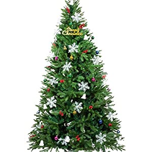 Dolloly Artificial Christmas Tree Premium Full Branches Christmas Tree with Solid Metal Legs Indoor Outdoor Xmas Decoration 2