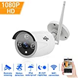 Hiseeu 1080P Wireless Outdoor IP Camera WiFi Metal Case Waterproof 1080P Night Vision Security Cam HD CCTV P2P H.264 Android iOS Windows 2.0M Pixel