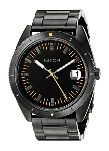 Nixon-Mens-A359-577-Rover-SSII-Black-and-Orange-Stainless-Steel-Watch
