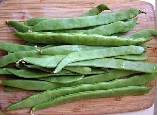 Romano Bean Seeds - Romano Italian Pole Bean - 50 Seeds - Distinctive, Full Flavor/Very Heavy Yields by Hirts: Seed; Bean