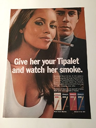 1969 Give Her A Tipalet Cigarette Magazine Print Advertisement