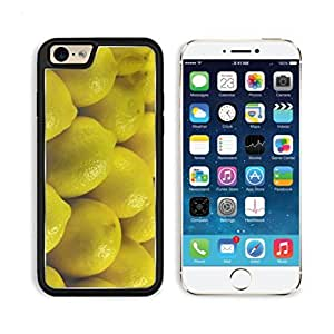 Lemon Yellow Fruit Citrus Food Apple iPhone 6 TPU Snap Cover Premium Aluminium Design Back Plate Case Customized Made to Order Support Ready Luxlady iPhone_6 Professional Case Touch Accessories Graphic Covers Designed Model Sleeve HD Template Wallpaper Photo Jacket Wifi Luxury Protector Wireless Cellphone Cell Phone