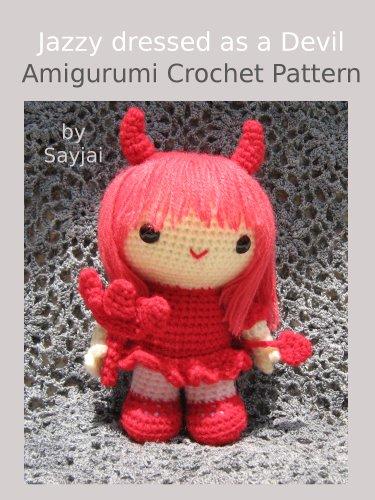 Jazzy dressed as a Devil Amigurumi Crochet Pattern -