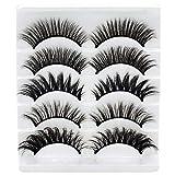 Folouse Fake Eyelashes, 5 Pairs 5 Styles Long Natural Fakes Eyelashes 3D