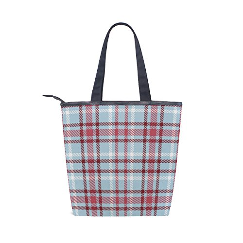 Canvas MyDaily Tote Shoulder Handbag Plaid Bag Checkered Womens Gingham qFwB1A
