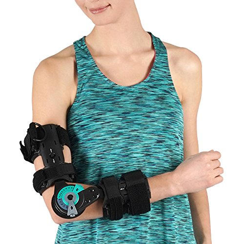 Soles Hinged Elbow Brace (Right Arm) - Support Post Op Injury Recovery, Rom Orthosis - Adjustable Range of Motion - One Size Fits All - Unisex by Soles (Image #2)