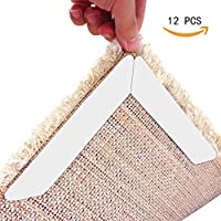 BESTFACE Rug Grippers, Carpet Gripper Keeps Your Rug in Place and Flat, Premium Anti Curling Rug Gripper With Strong Stickness Renewable Adhesive Carpet Pad for Any Kind Rugs