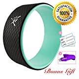 Risefit Dharma Yoga Prop Wheel for Yoga Poses, Aqua
