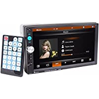 Car stereo,Becoler Bluetooth 7 HD In Dash General Stereo 2 Din Touch Screen FM MP5 Player Support FM/SD/USB/Aux Input Hands-free calls Power Output Remote control