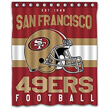 Sonaby Custom San Francisco 49ers Waterproof Fabric Shower Curtain For Bathroom Decoration 60x72 Inches