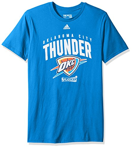 fan products of NBA Oklahoma City Thunder Adult Men NBA Playoff Arch S/Go-To Tee, X-Large, Bright Royal
