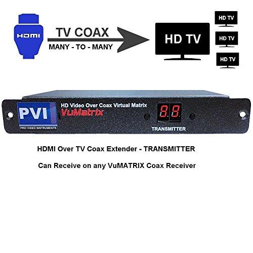 HDMI Extender Over Coaxial Cable - VUMATRIX COAX TRANSMIT...