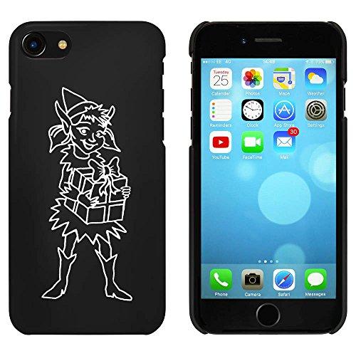 Noir 'Elfe de Fille avec le Présent' étui / housse pour iPhone 7 (MC00058539)