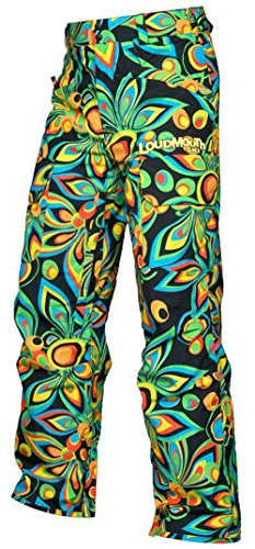 Loudmouth Snow Ski/Snowboard Pants - Shagadelic Black Size Large by Loudmouth Golf
