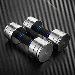 Well-Being-Matters 51o1LeX1nQL._SS300_ oftoto Adjustable Dumbbells Set - 11-22 Pound Adjustable Dumbbell Set for Men and Women, Great for Core Fitness…