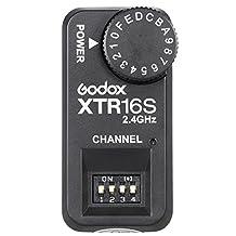 Godox XTR-16S Flash Receiver 2.4G Wireless X-system Remote Power Control for VING V860 V850