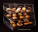 "3 Tier Acrylic Cupcake Display Case with Removable Trays 21""Wx17""Dx16.75""H"