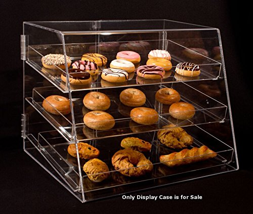 "3 Tier Acrylic Cupcake Display Case with Removable Trays 21""Wx17""Dx16.75""H by Display Case"