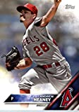 2016 Topps Team Edition #A-8 Andrew Heaney Los Angeles Angels Baseball Card in Protective Screwdown Display Case