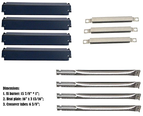 Relishfire Parts Kit Replacement for Charbroil Gas Grill Burners,Heat Plates and Crossover Tubes by Relishfire