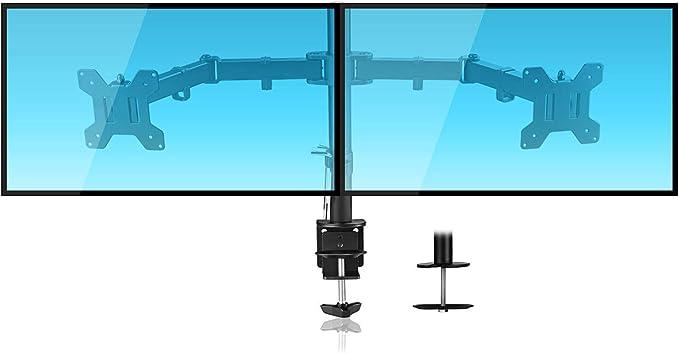 Suptek Monitor Halterung 2 Monitore Doppelarm Amazon De Computer Zubehor