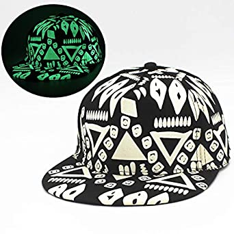 Psychedelic Pattern Marijuana Leaf Symbol Children Travel Hats Black