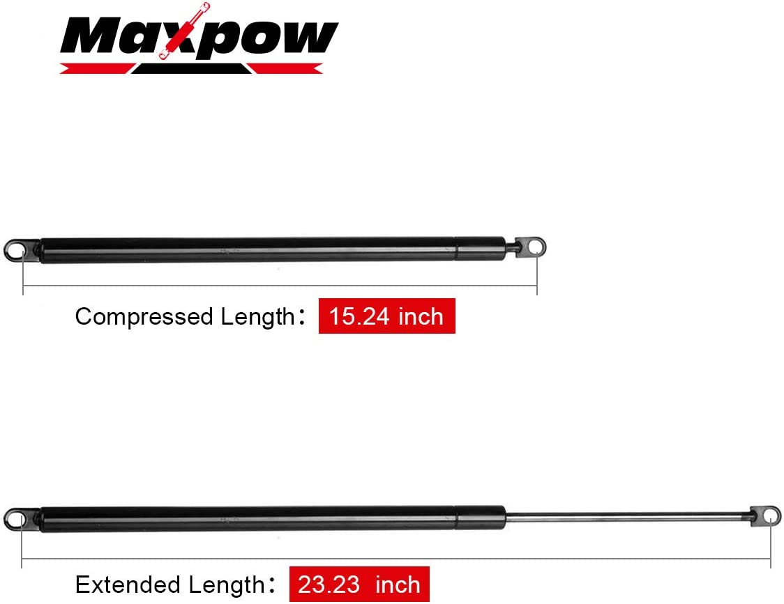 Pack of 2 Maxpow 4715 Compatible With Dodge Ramcharger 1981 1982 1983 1984 1985 1986 1987 1988 1989 1990 Replacement for Plymouth Trailduster 1981 Rear Liftgate Lift Supports Struts