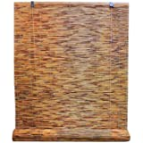 Radiance 3370732 Reed Woven Wood Bamboo Roll Up Window Blind, 72-Inch Wide by 72-Inch Long, Cocoa