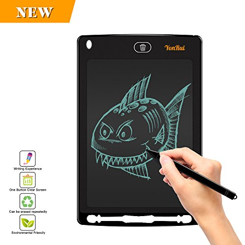 - LCD Writing Board With Pen-8.5 In Writing Tablet Can Be Used For Kid Doodle Drawing Board(Black)