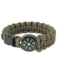 Rothco Paracord Compass Bracelet, Olive Drab - 8 Inches