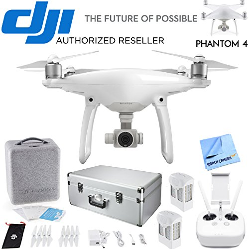 DJI Phantom 4 Advanced Quadcopter Drone Bundle con batería extra y Custom funda de aluminio