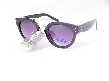 lunettes de soleil rondes verres ronds mixte homme femme 023954 (monture noire brillant verres mauve , largeur:135mm hauteur:50mm)