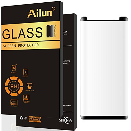 Ailun Screen Protector for Galaxy Note 8,Curved Edge Tempered Glass,with Installation Tray Positioner,[Case Friendly Updated Version],Ultra-thin,9H Hardness,Anti-Scratch for Galaxy Note 8