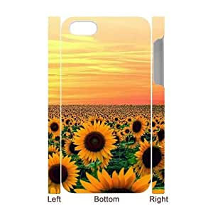 Customized Beautiful Sunflower iPhone 4 3D Case, Beautiful Sunflower DIY 3D Case for iPhone 4, iPhone 4s at Lzzcase