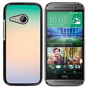 MOBMART Carcasa Funda Case Cover Armor Shell PARA HTC ONE MINI 2 / M8 MINI - Shades Of Green And Bright White
