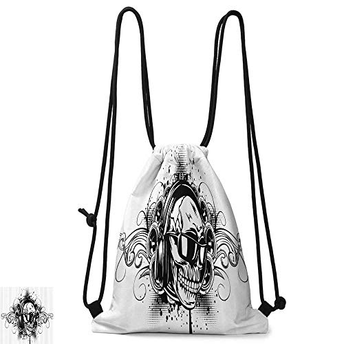traveling backpack Tattoo Decor Mexican Sugar Skull Ceremony Ritual Folkloric Design Gates of Heaven Theme Art W14