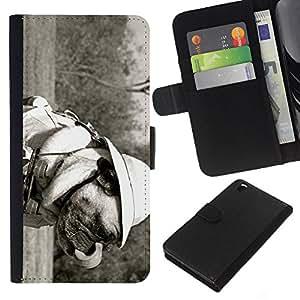 EJOY---La carpeta del tirón la caja de cuero de alta calidad de la PU Caso protector / HTC DESIRE 816 / --Divertido Safari Perro del barro amasado