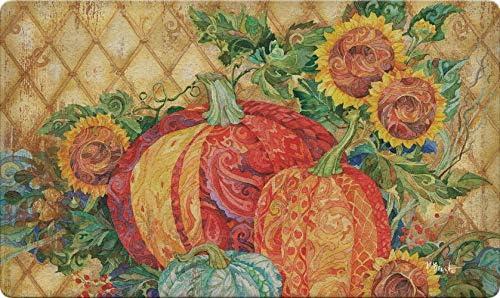 Toland Home Garden 800459 Boho Pumpkins Doormat, Fall Harvest Sunflower