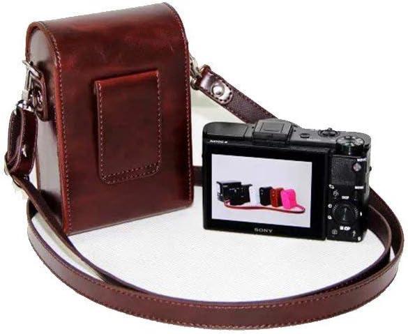 YAHUA LI Camera Bag Leather case Cover for Sony DSC-RX100 RX100 VII VI VA V IV III II 7 6 5 4 3 2 RX100M6 RX100M5 RX100M4 RX100M3 RX100M7,115X80X45mm
