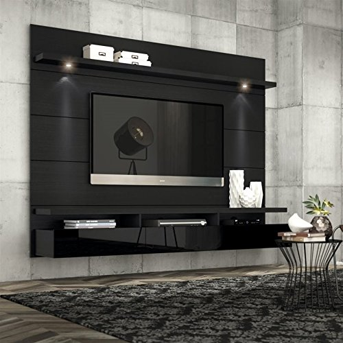Manhattan Comfort Cabrini Theater Panel 2.2 Collection TV Stand with Drawers Floating Wall Theater Entertainment Center, 85.62