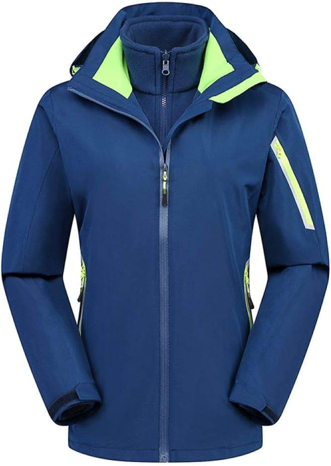 男性のための冬のアウトドアジャケット、防水、暖かいツーピース登山服  Medium