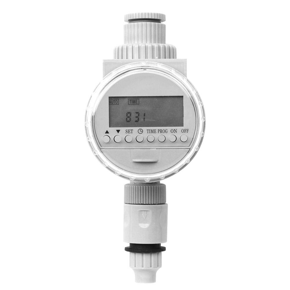 KEIBODETRD Auto Watering Timer Solar Digital LCD Irrigation System Controller Water Saving Garden Greenhouse Tool Color White