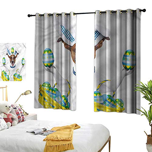 Curtain Easter,Funny Jack Russell Baskets 54
