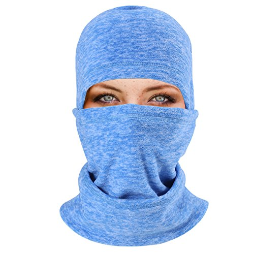 KAITUO Soft Thermal Fleece Balaclava Hood Adjustable with Drawstring Comfy Cover Face Mask Neck Warmer Helmet Liner Multifunctional Beanies for Cold Weather Winter Outdoor Sports Motorcycle (Cold Weather Helmet Liner)